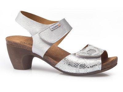 Sandalia señora plata