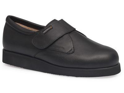 calzado ortopedico unisex negro con velcro