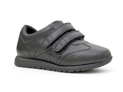Calzado deportivo velcro negro