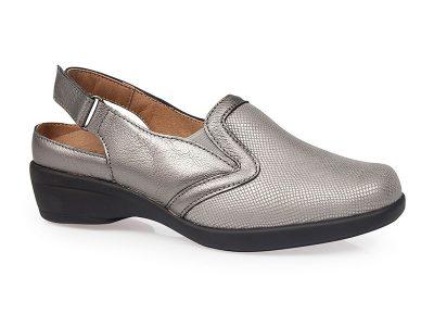 Calzado confort señora plata