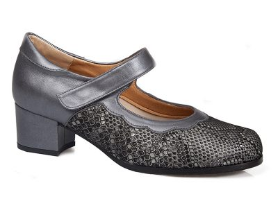Calzado confort señora gris